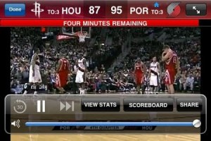 Watch NBA games live on your iPhone or Android